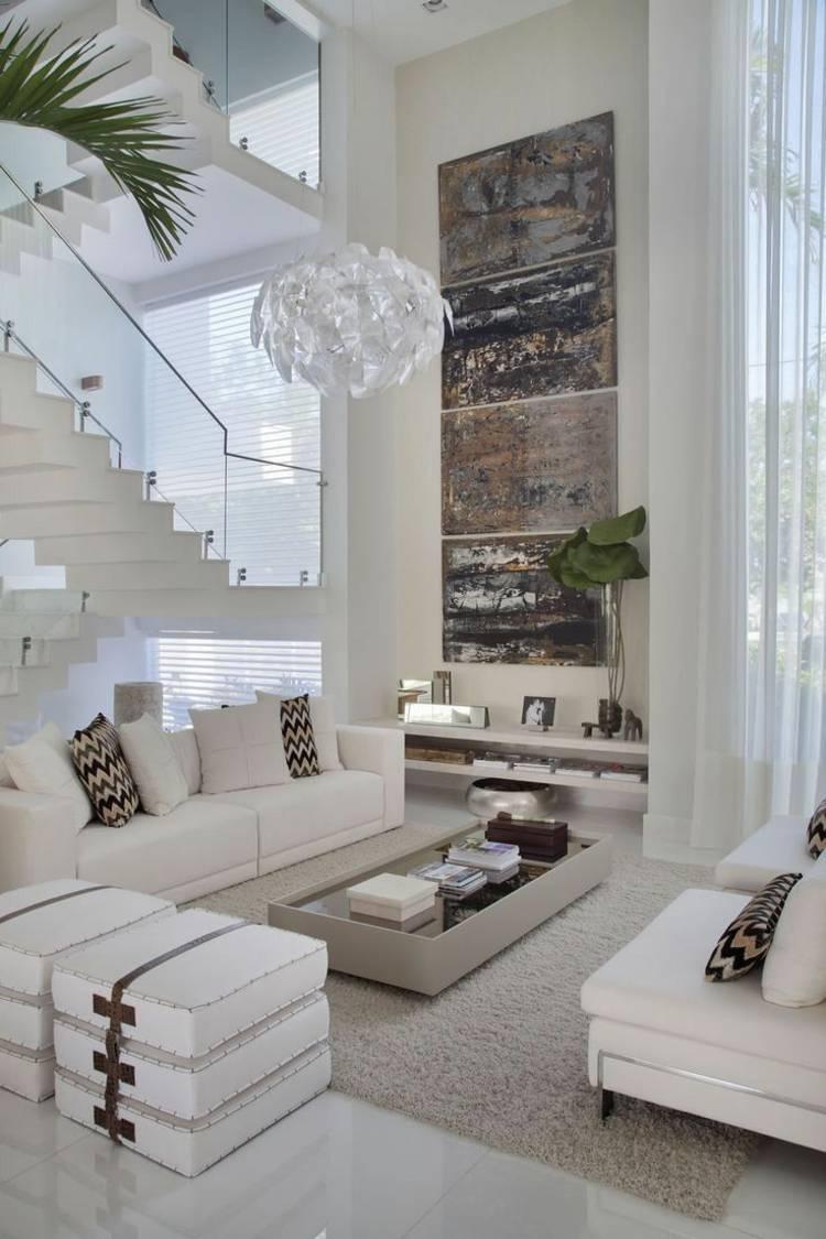 Modernes Wohnzimmer Einrichten In Den Farben Grau Beige Oder Weiß