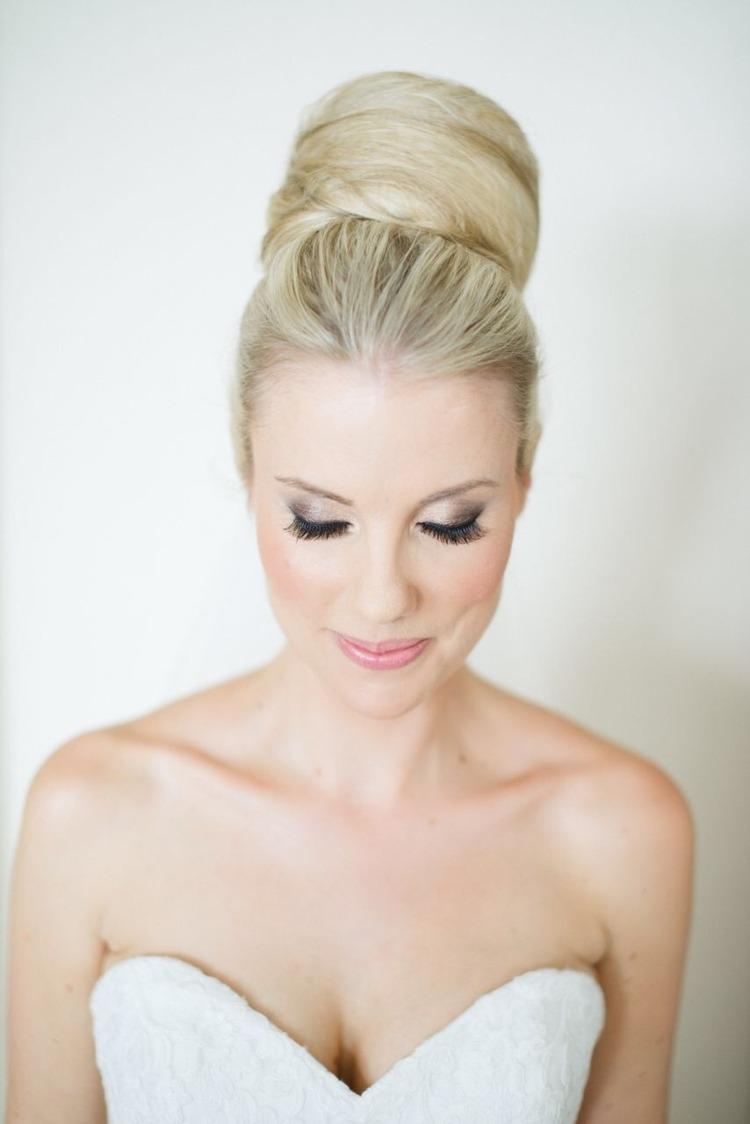 Braut Make Up Blaue Augen Blonde Haare September By
