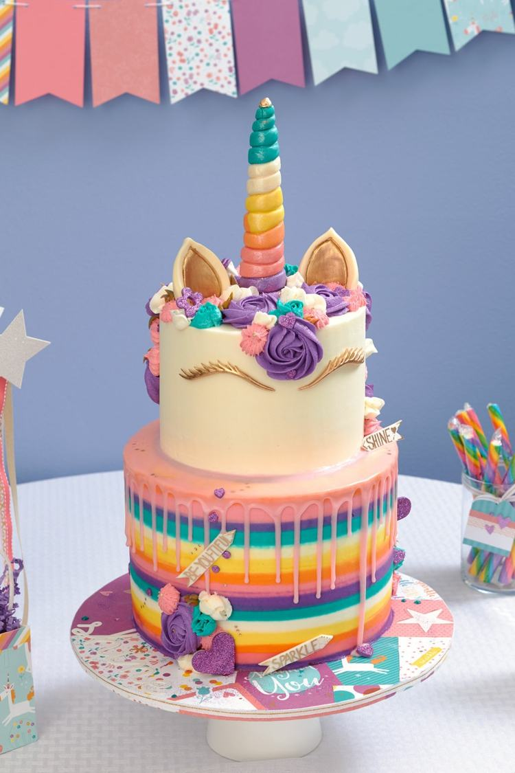 Einhorn Kuchen Deko Selber Machen Torte Zum 18 Geburtstag Selber