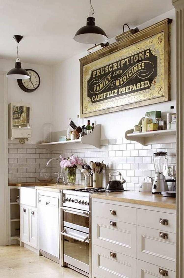 Vintage Kuche Deko Shabby Chic Kuchen Ideen Zum Einrichten Und