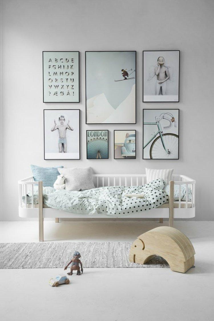 Wanddeko Kinderzimmer Mint Lovely Label Bordure Selbstklebend