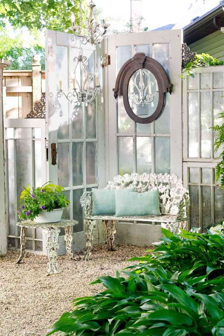 Privacy Garden Ideas Diy Fence From Old Doors Or Shutters Decor Object Your Daily Dose Of Best Home Decorating Ideas Interior Design Inspiration