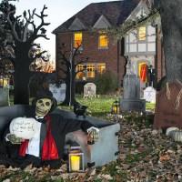 Dcoration de jardin Halloween en squelettes, crnes et os