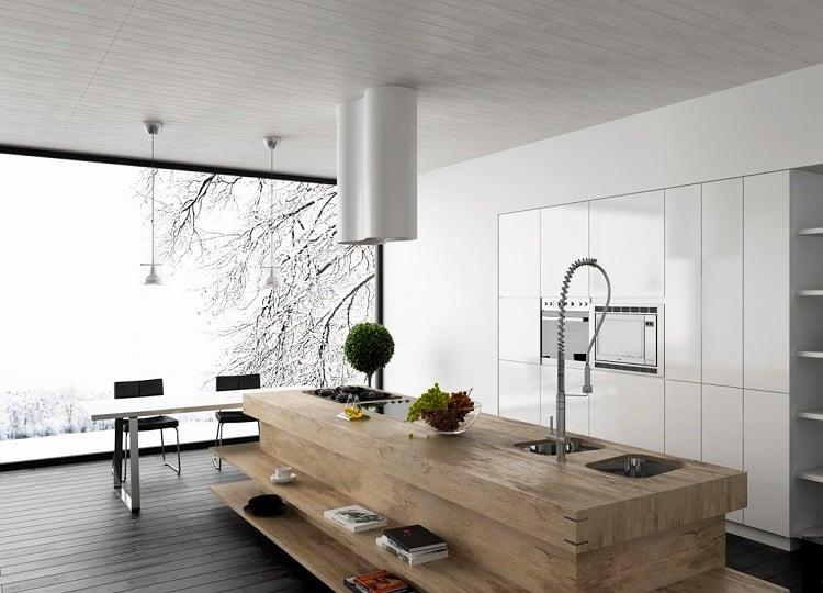 99 idées de cuisine moderne où le bois est à la mode