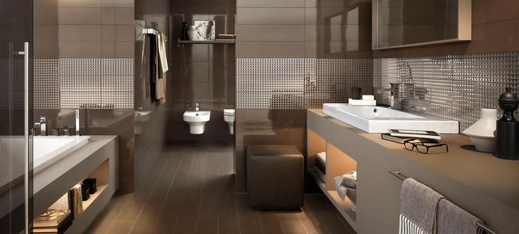 Carrelage de salle de bains original \u2013 90 photos inspirantes