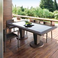 Meubles de jardin terrasse en rotin- design par Roberti Rattan
