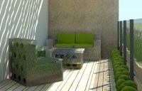 Mobilier de balcon et toit-terrasse en 50 ides modernes