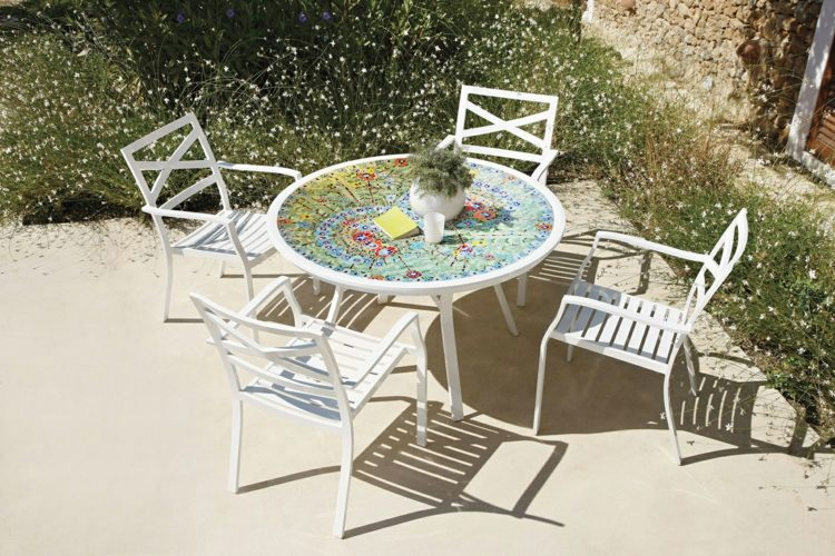 Table De Jardin Mosaique Ronde