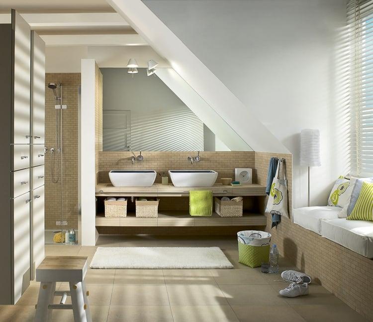 Design D\'intérieur De Salle De Bain Sous Comble