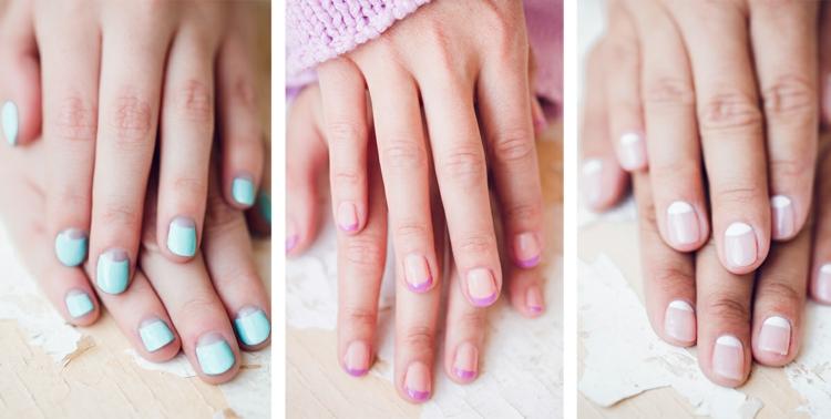 Idee Nail Art Ete Couleurs Pastel Motifs Geometriques