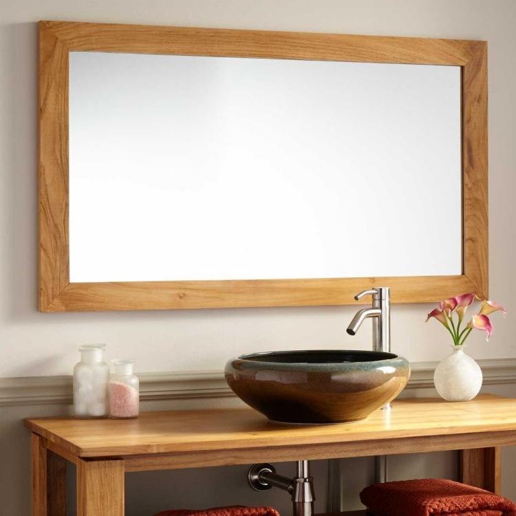 Meuble salle de bain bois en 55 idées fascinantes! - Meuble Avec Miroir Pour Salle De Bain