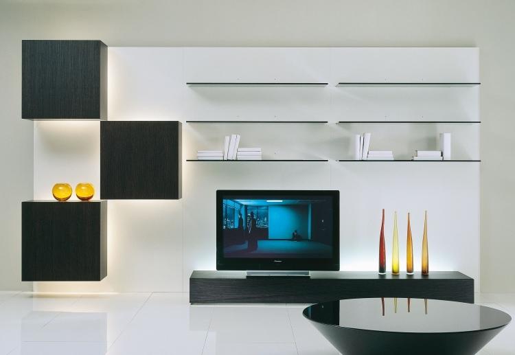 Ensemble Mural Tv A Led Pour Le Salon Moderne 50 Idees