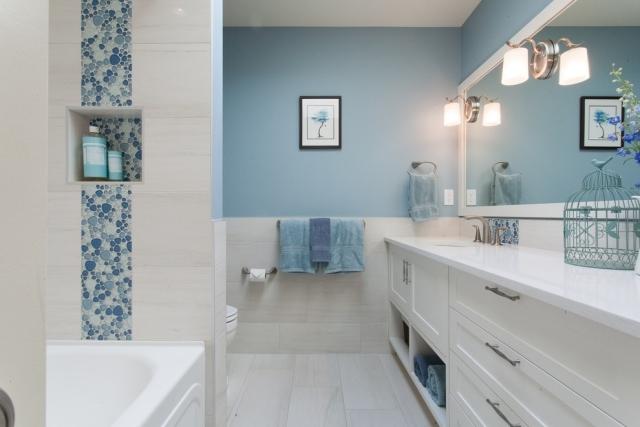 Salle De Bain Blanche Et Bleu. salle de bain gris bleu carrelage ...