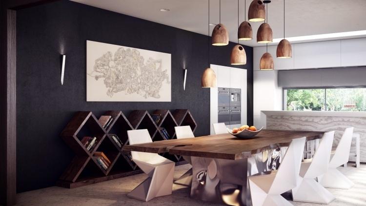 Déco murale originale dans la salle à manger en 24 idées