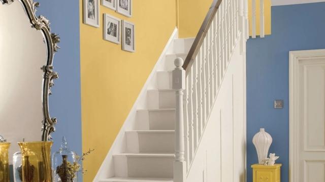 Peinture Cage Escalier Maison   Peinture Couloir Et Décoration De L ...