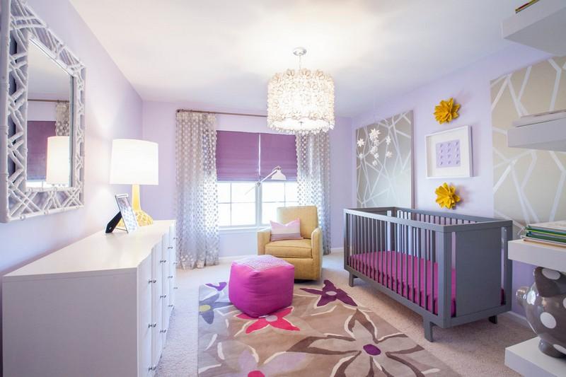 Teenage Girl Room White And Gold Polka Dot Wallpaper Chambre B 233 B 233 Fille 50 Id 233 Es De D 233 Co Et Am 233 Nagement
