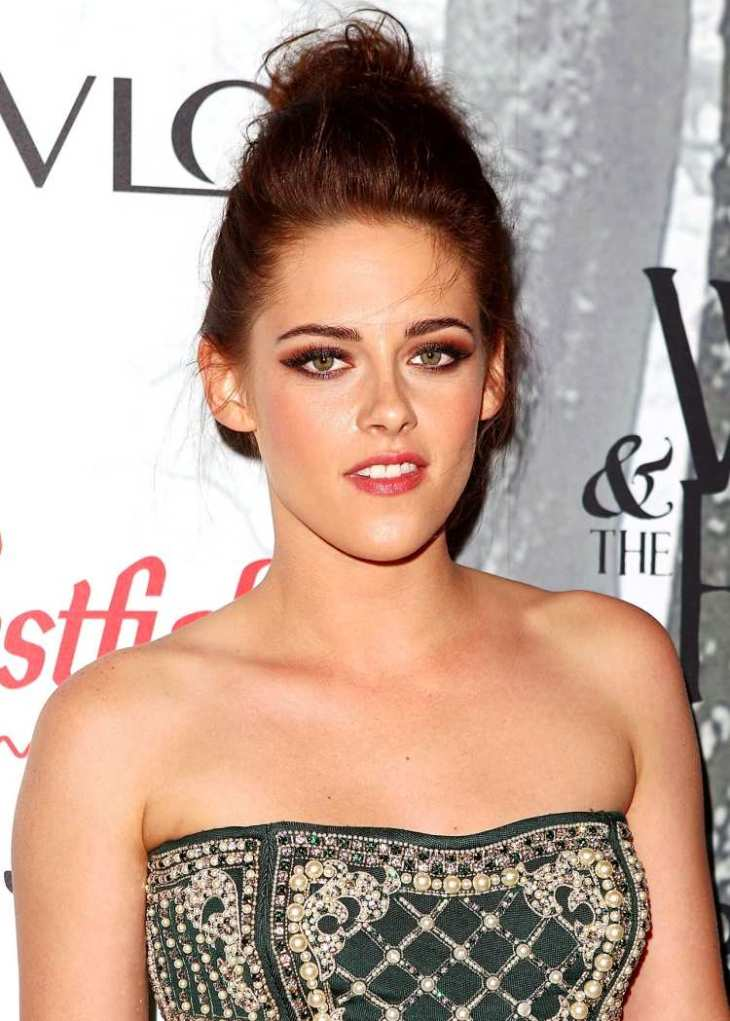 comment-bien maquiller yeux lèvres couleurs chaudes Kristen Stewart