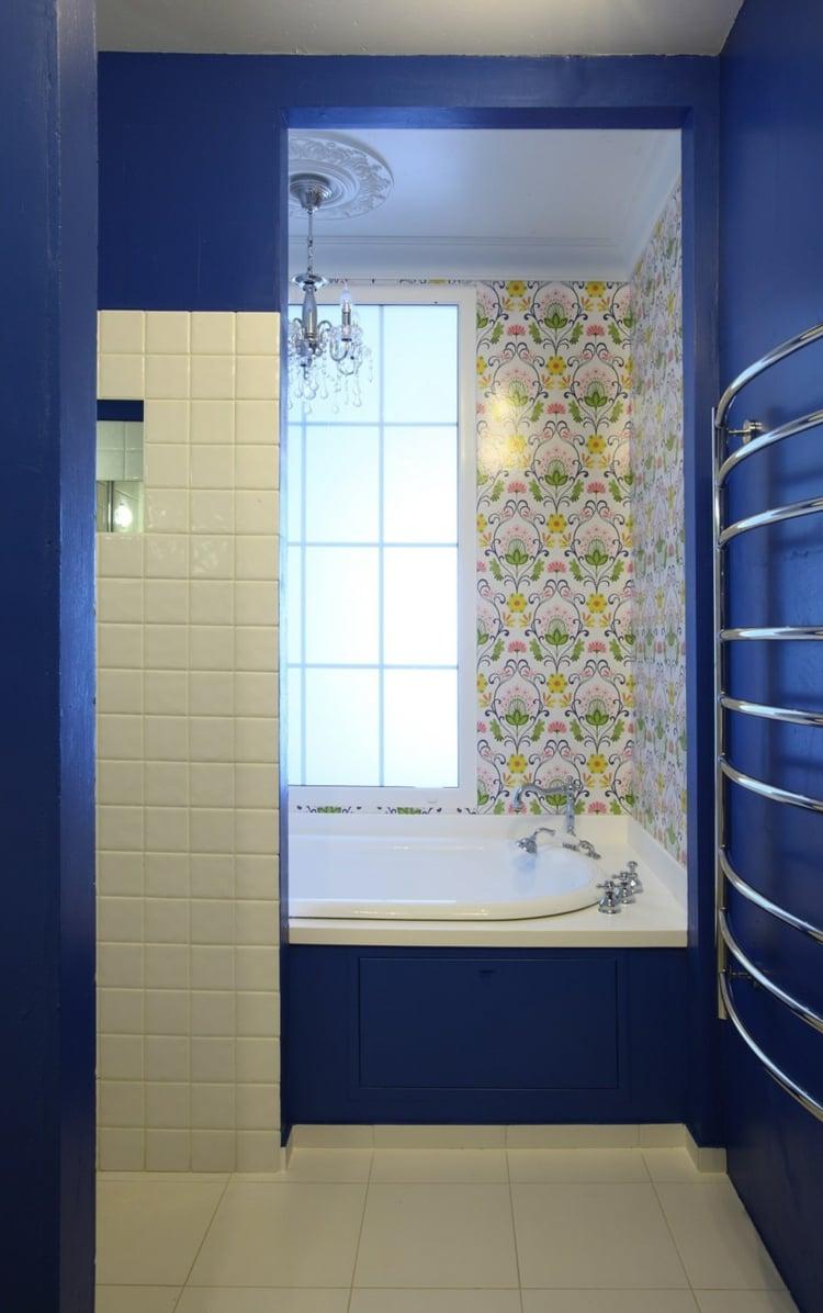 Peinture Carrelage Bleu | Peinture Salle De Bain Bleu Peinture Salle ...