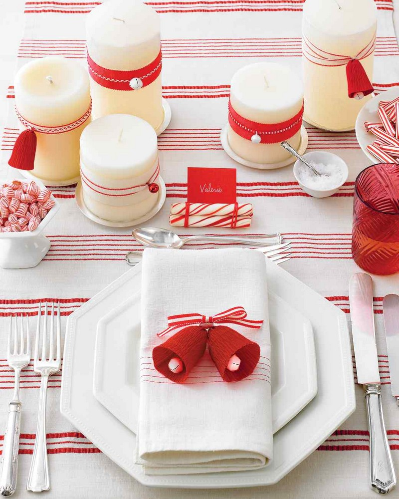 Deco Table Noel Blanc Decoration Table De Noel Rouge Et Blanc
