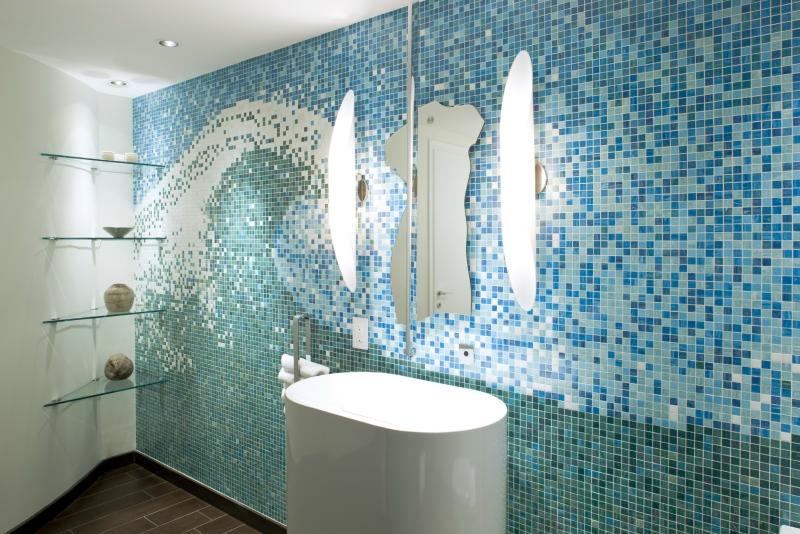 Comfortable Mosaique Salle De Bain Verte Et Idees Pour Les Autres ...