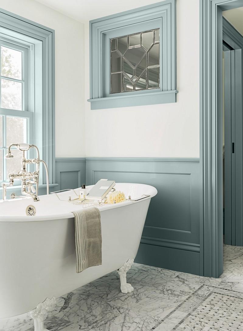 Stunning Salle De Bain Vintage Bleu Ideas - House Design ...