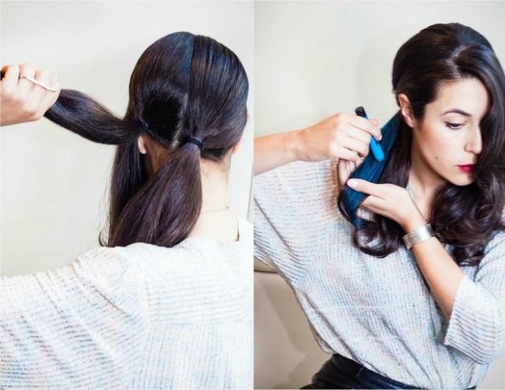 coiffure pour nouvel an chevelure-trois-sections-craie-colorante-bleu-neon