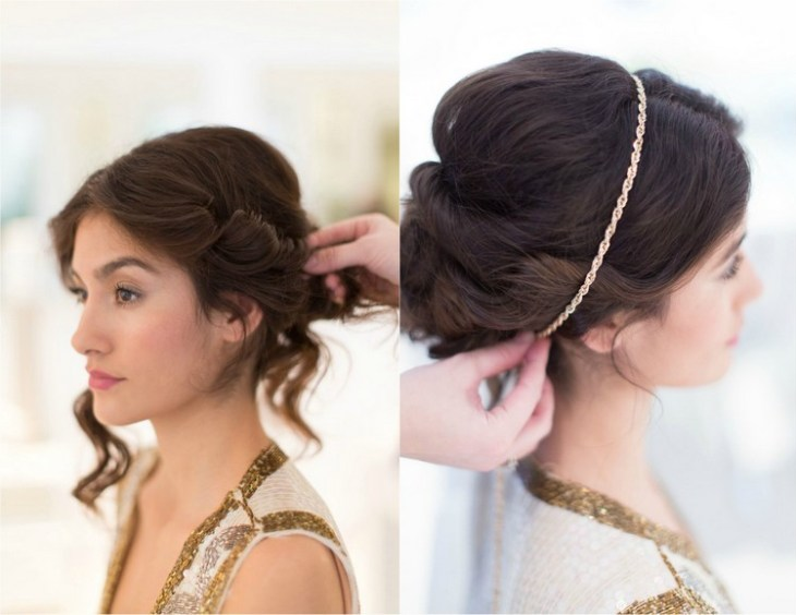 coiffure pour nouvel an chignon-flou-meches-torsadees-hairband-chaine