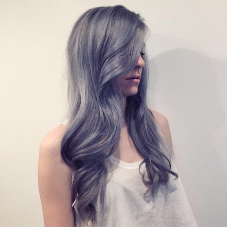 cheveux gris bleuté mode 2016 style vintage romantique