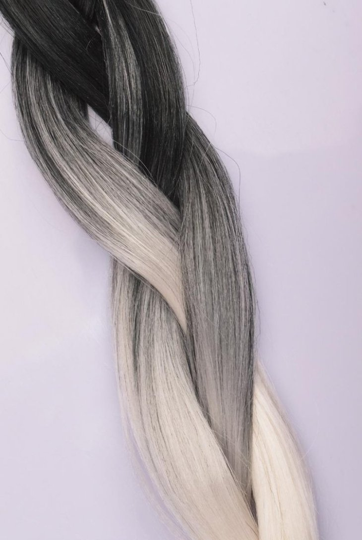 cheveux gris mode 2016- extensions tresse nuances grises