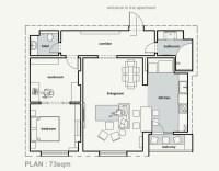 plan appartement cuisine ouverte