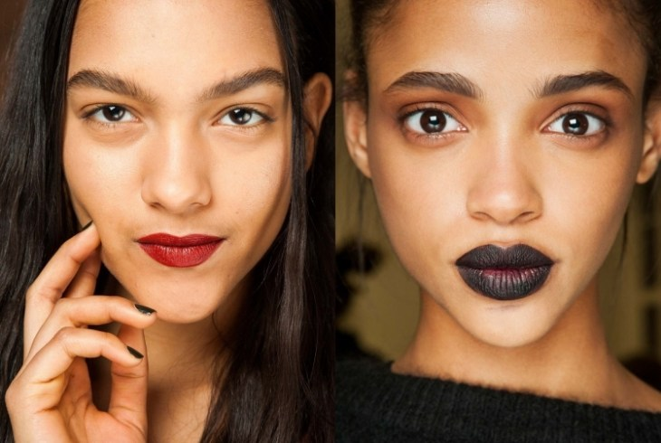 maquillage tendance 2016 rouge lèvres couleurs audacieuses yeux nude
