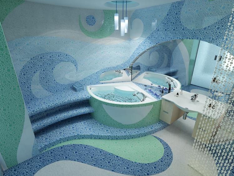 Design D Interieur De Salle De Bain Mosaique