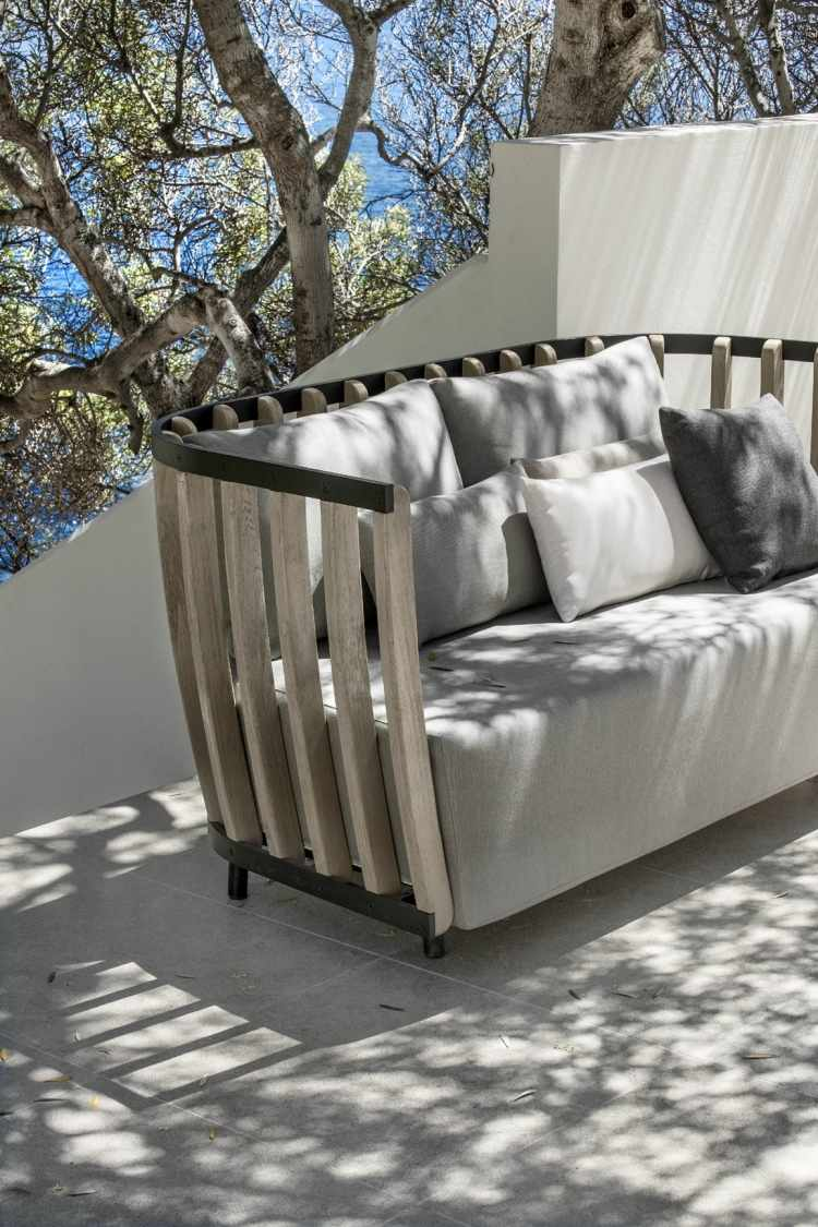 6 Chaises Grises Salon De Jardin Moderne – 7 Collections Exclusives Par Ethimo