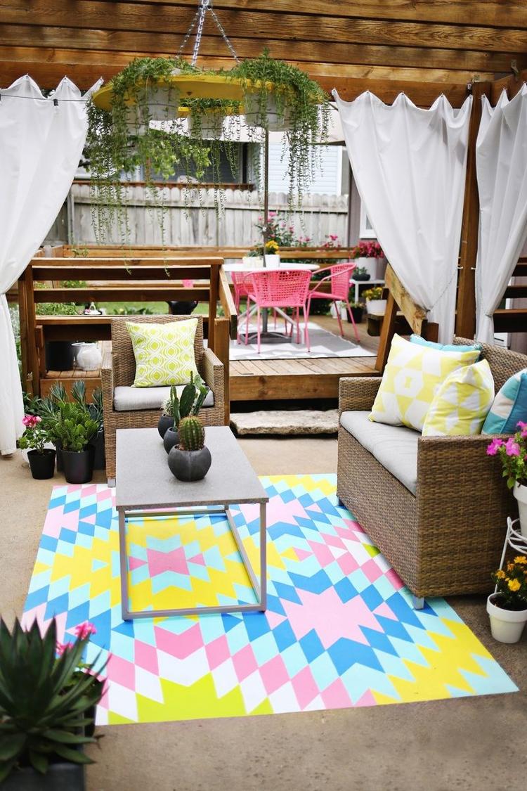Idée Aménagement Salon De Jardin   Salon Jardin Peinture Deco ...