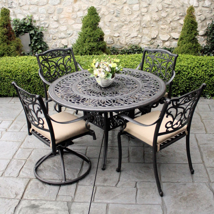 Table Ronde Teck Leclerc Table Jardin Fer Forge. Salon De Jardin Fer Forg Gifi With