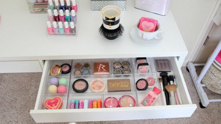 idée-rangement-maquillage-pratique-séparateur-tiroir-plastique