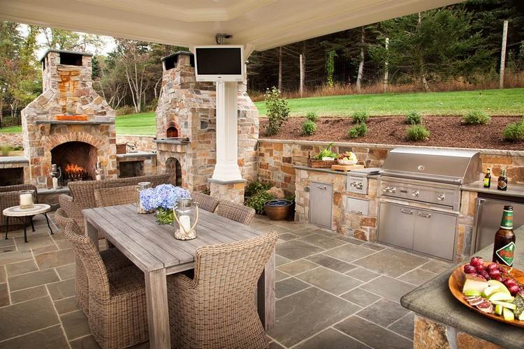 Barbecue en pierre pour équiper la cuisine d\u0027été en 35 idées originales - Cuisine D Ete Exterieure En Pierre