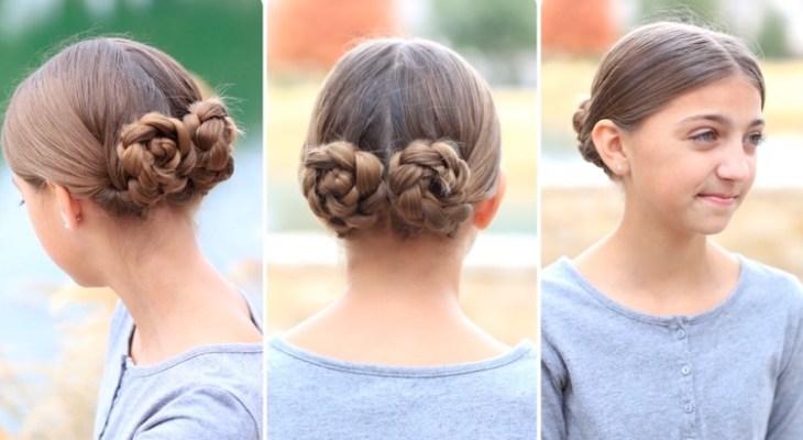 coiffure pour petite fille -petits-chignons-tressés