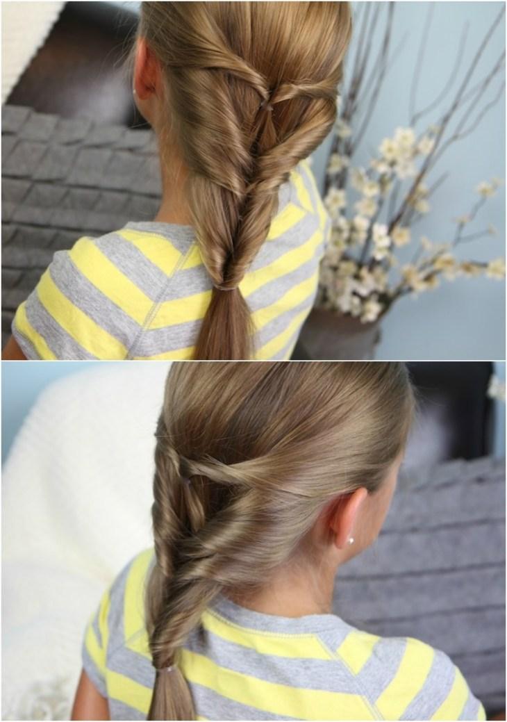 coiffure pour petite fille -queues-cheval-twistées