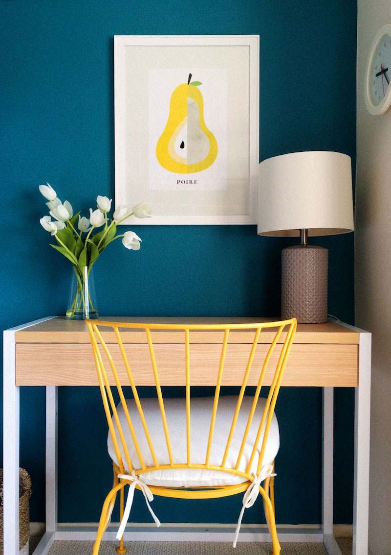Bleu Canard Et Jaune Moutarde. Gallery Of Rver Bleu Canard Salon ...