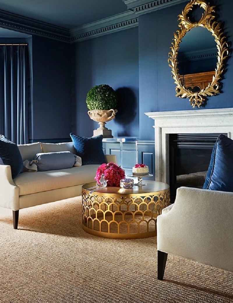 Peinture Bleu Salon