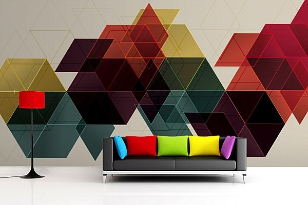 3d Colours Wallpaper Heart Wall Painting Ideas And Patterns Shapes And Color