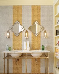 Ideas for bathroom tiles - design variety and tips for tiling