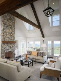 Warm up your home with an awesome stone fireplace
