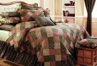 Rustic bedding adds a country charm to your home