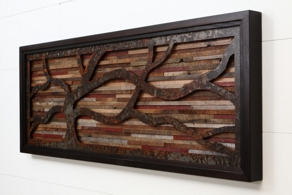 Modern wall art ideas from recycled wood brings nature into your home