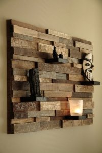 Modern wall art ideas from recycled wood brings nature ...