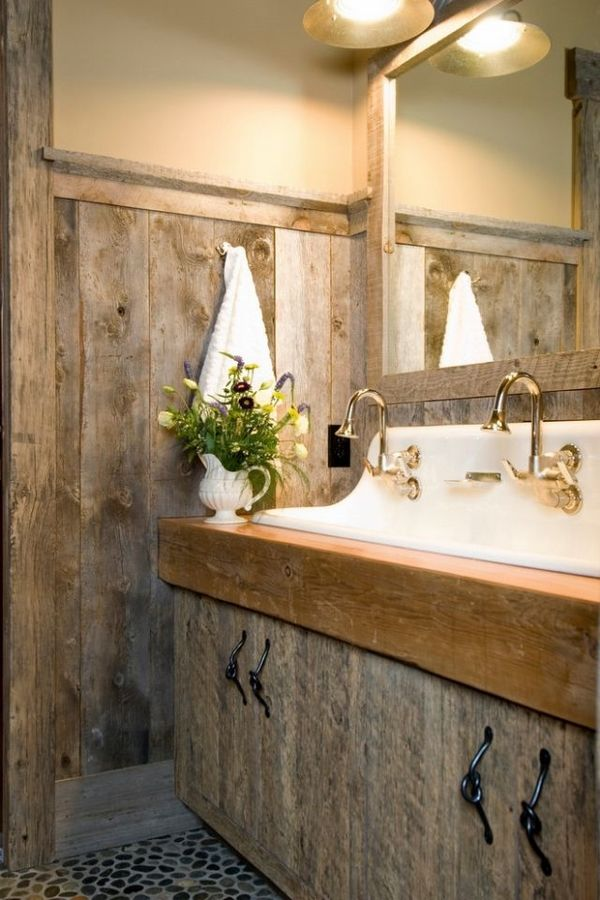 Rustic Decor In The Bathroom Possible Or Impossible
