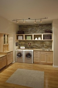 Functional laundry room cabinets with modern design