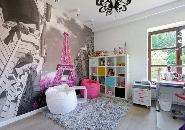 Girls Wallpaper Decals With Eiffel Tower Teen Bedroom Wall Decoration Ideas Cool Photo Wallpapers